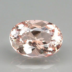 MG109 Oval 1.32ct 8.4x6x4.6mm Natural Unheated Pinkish Orange Morganite Brazil