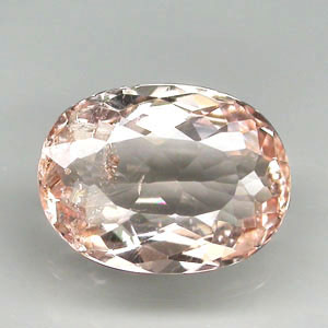 MG111 Oval 1.59ct 9.3x7x3.9mm Natural Unheated Pinkish Orange Morganite Brazil