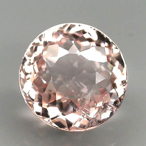 MG115 Round 1.96ct 7.7x5.3mm Natural Unheated Pinkish Orange Morganite Brazil