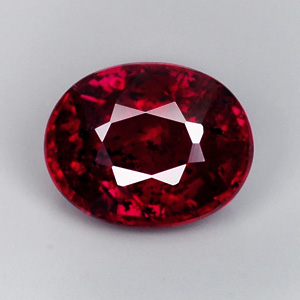[RB013] Oval 0.68Ct 5.5x4.5mm Natural Unheated Untreated Pigeon Blood Red RUBY, Madagascar