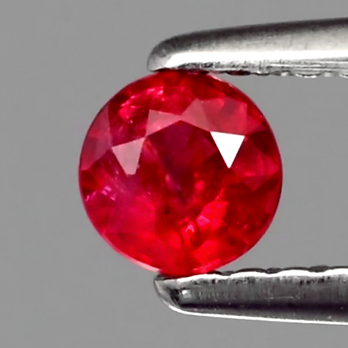 [RB105] Round 0.28ct 3.8mm Natural Unheated Untreated Rich Red RUBY, Mozambique Good Luster