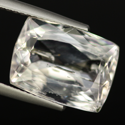 SD103 Octagon 7.67ct 13x10x6.7mm Natural Unheated Colorless Spodumene Hiddenite, Afghanistan