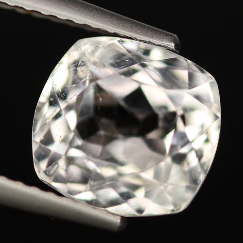 SD106 VS Cushion 4.09ct 9x8.6x6.7mm Natural Unheated Colorless Spodumene Hiddenite, Afghanistan