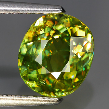 [SE001] Oval 2.04Ct 8.5x7.5mm Yellowish Green SPHENE (Titanite), Madagascar