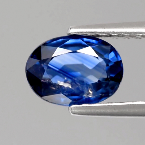 [SH161] Certified Oval 1.11ct 7x5x3.1mm Natural Normal Heated Blue Sapphire, Madagascar