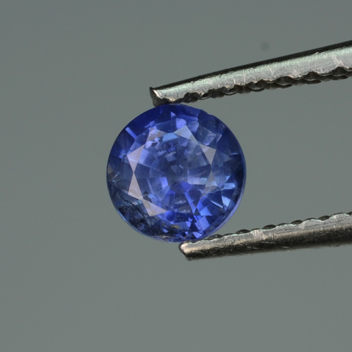 [SH196] Round 0.43ct 4.3mm Natural old time Heat Treated only Royal Blue ceylon Sapphire