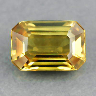 [SP003] EMIL Certified VVS Octagon 0.86ct 6.68x4.50x2.53mm Unheated Untreated Natural Yellow SAPPHIRE