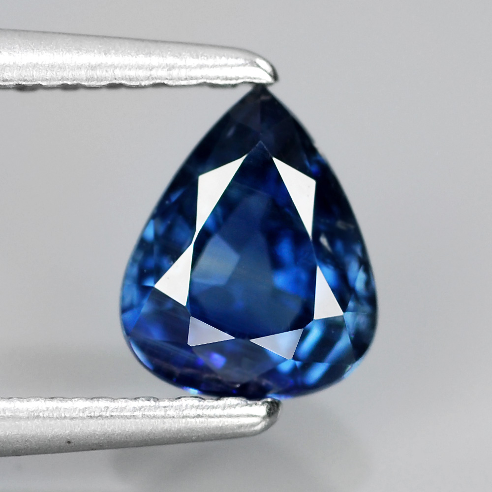 [SP007] EMIL Certified, 0.75ct 6x5mm Pear Unheated Untreated UNTREATED Royal Blue SAPPHIRE