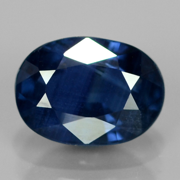 [SP011] Certified 1.14ct 6.5x4.5mm Oval Natural Unheated Untreated Royal Blue SAPPHIRE