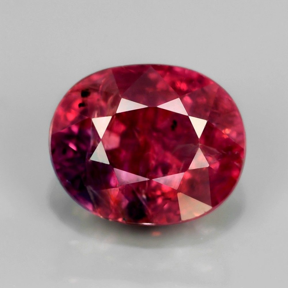 [SP022] Certified Oval 1.65ct 7x6mm Natural Unheated Untreated Purplish Pink, Winza Tanzania