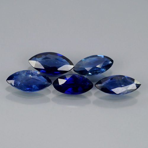 SP100 Lot 5Pcs 1.74Ct Marquise Unheated Untreated Natural Royal Blue SAPPHIRE Africa