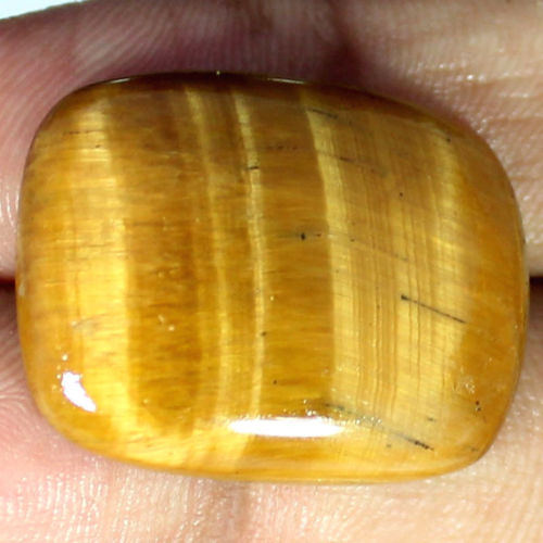 TGE106 Cushion Cabochon 29ct 20x26mm Natural Unheated Golden Tiger Eye, Africa