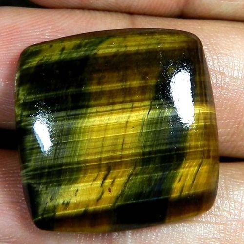 TGE107 Square Cabochon 34ct 25x25x6mm Natural Unheated Golden Tiger Eye, Africa