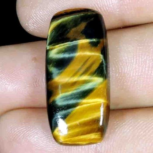 TGE109 Cushion Cabochon 22.80ct 14x31x5mm Natural Unheated Golden Tiger Eye, Africa