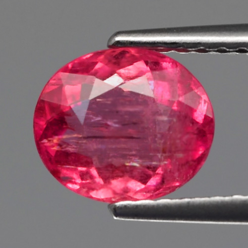 TM103 Oval 1.50ct 7.7x6.5mm Natural Unheated Untreated Vivid Pink Tourmaline, Mozambique