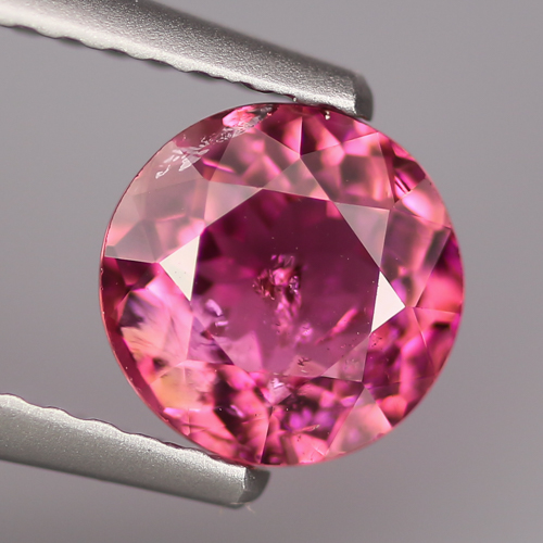 TM105 Round 0.93ct 6.6mm Natural Pink Rubellite Tourmaline Mozambique
