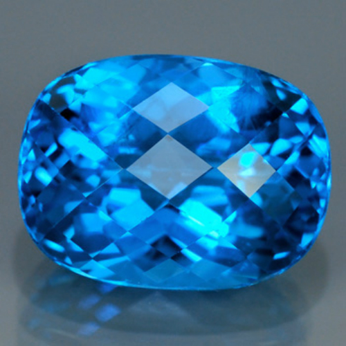 [TP003] VS Oval 12.72ct 15x11mm Top Sparkling Natural Swiss Blue Topaz, Brazil