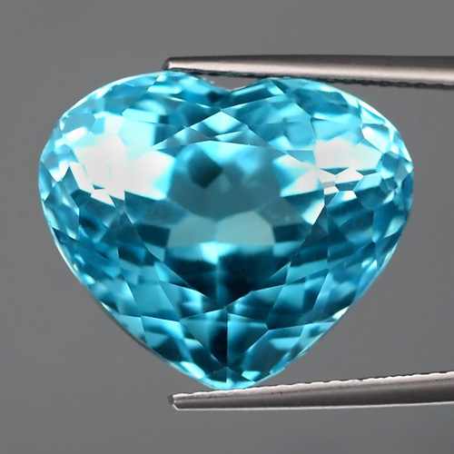 [TP015] GLC Certified Clean 27.25ct 18.5x16mm Heart Natural Swiss Blue TOPAZ Brazil Super Luster