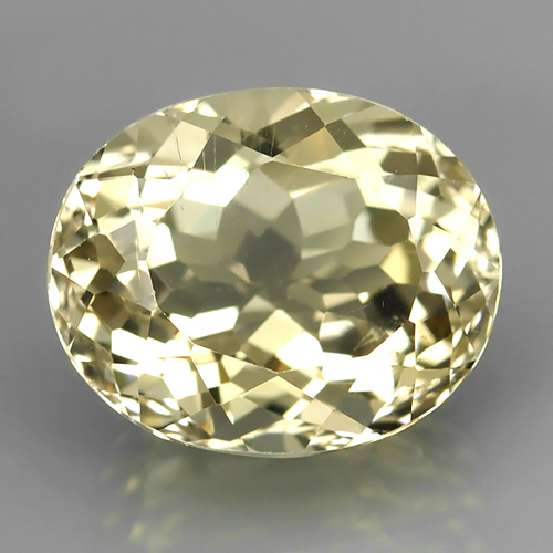 TP016 Emil Certified Oval 8.21ct 10.5x12.8x7.9mm Natural Unheated Yellow Topaz, Brazil