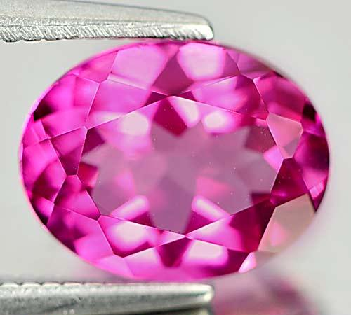 TP110 Clean Oval 2.15ct 8.9x7.1mm Natural Pink TOPAZ From Brazil