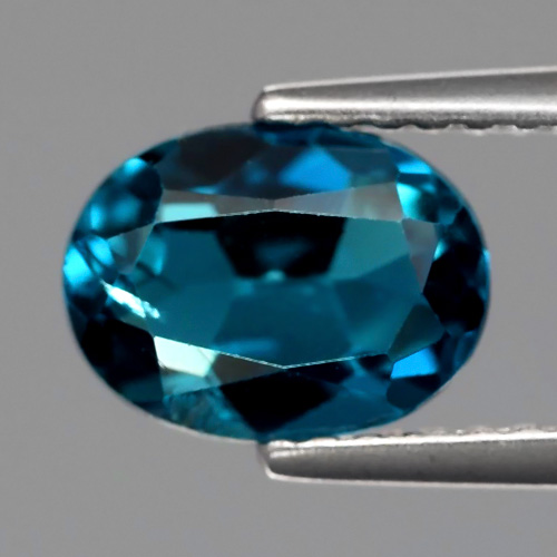 TP156 Oval 1.65ct 8x6mm Natural London Blue Topaz, Brazil Very Good Color