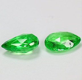 TS095 VS Natural Forest Green tsavorite Garnet 2pcs 2.86Tcw