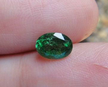 TS099 Unheated Top Emerald Green Tsavorite Garnet 0.96Ct