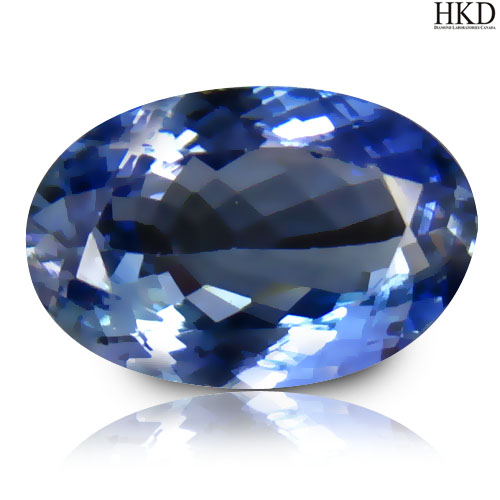 TZ108 Certified Oval 2.00ct 10x6.7mm Natural Bluish Violet TANZANITE Tanzania
