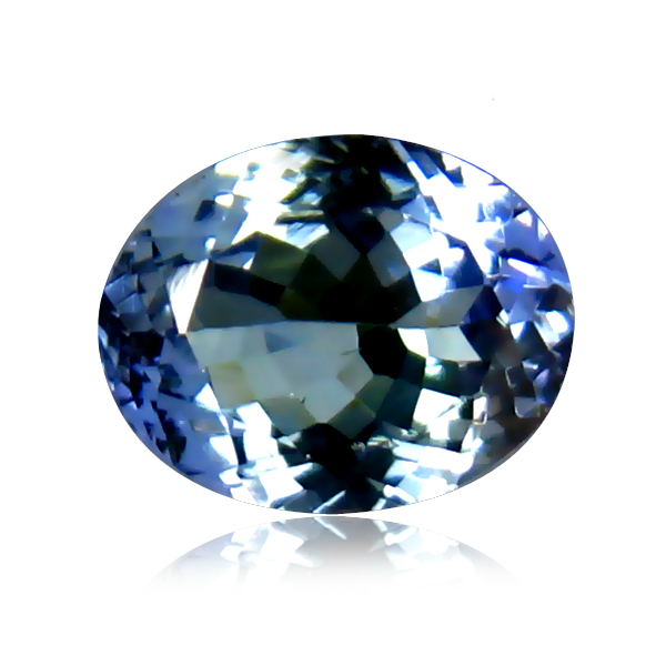 TZ136 Certified Oval 1.53ct 8X6mm Natural Bluish Violet TANZANITE Tanzania