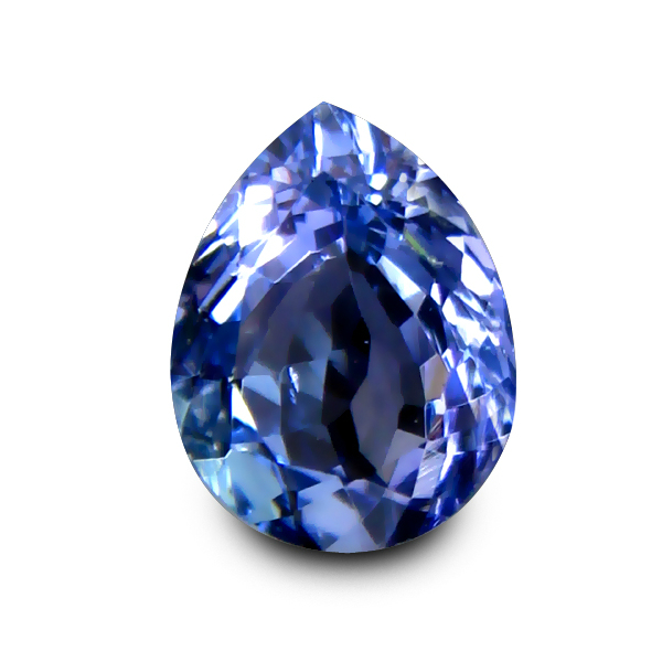 TZ137 Certified VVS Pear 1.23ct 7.9x6mm Natural Bluish Violet Tanzanite Tanzania