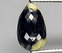 HY686 Natural Bi-Color Sapphire Pear 7.20ct Drilled