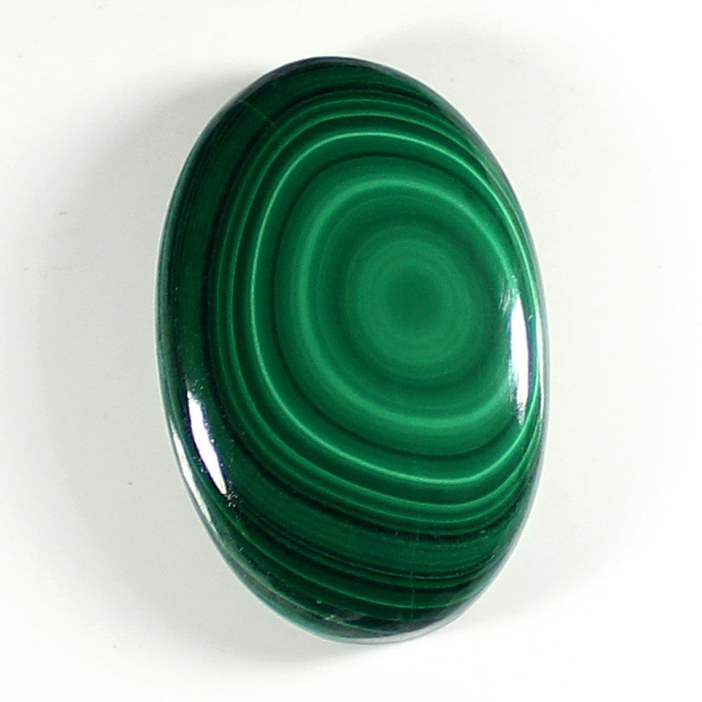 MC103 Oval Cabochon 70ct 26x36mm Natural Malachite