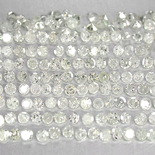 AA005 Natural Single Cut White diamonds Round 1.2mm
