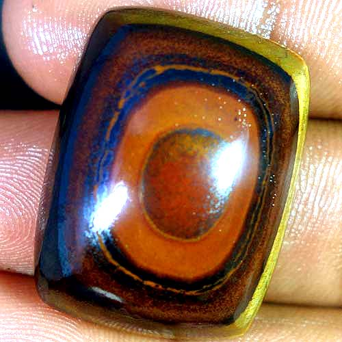 TGE108 Square Cabochon 83ct 24x31x6mm Natural Unheated Tiger Eye, Africa