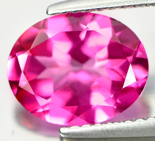 TP157 Clean Oval 2.59ct 10x8x4.5mm Natural Pink Topaz Brazil
