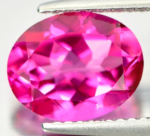 TP158 Clean Oval 2.63ct 10x8x4mm Natural Pink Topaz Brazil