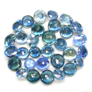 AA004 Lot 30pcs Shinning Natural Blue Sapphire Round Cut 2 to 2.5mm 2.07Ct